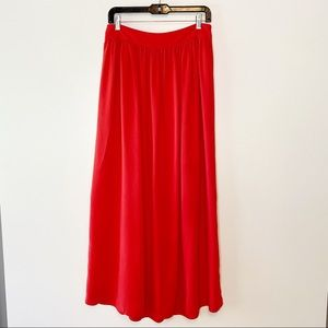 Banana Republic Red Maxi Skirt-SIze 6